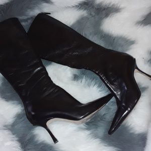 Jimmy choo boots black leather boot